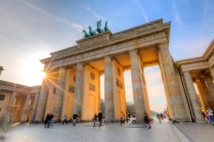 Brandenburg gate at sunset small