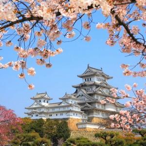 white heron castle Japan small